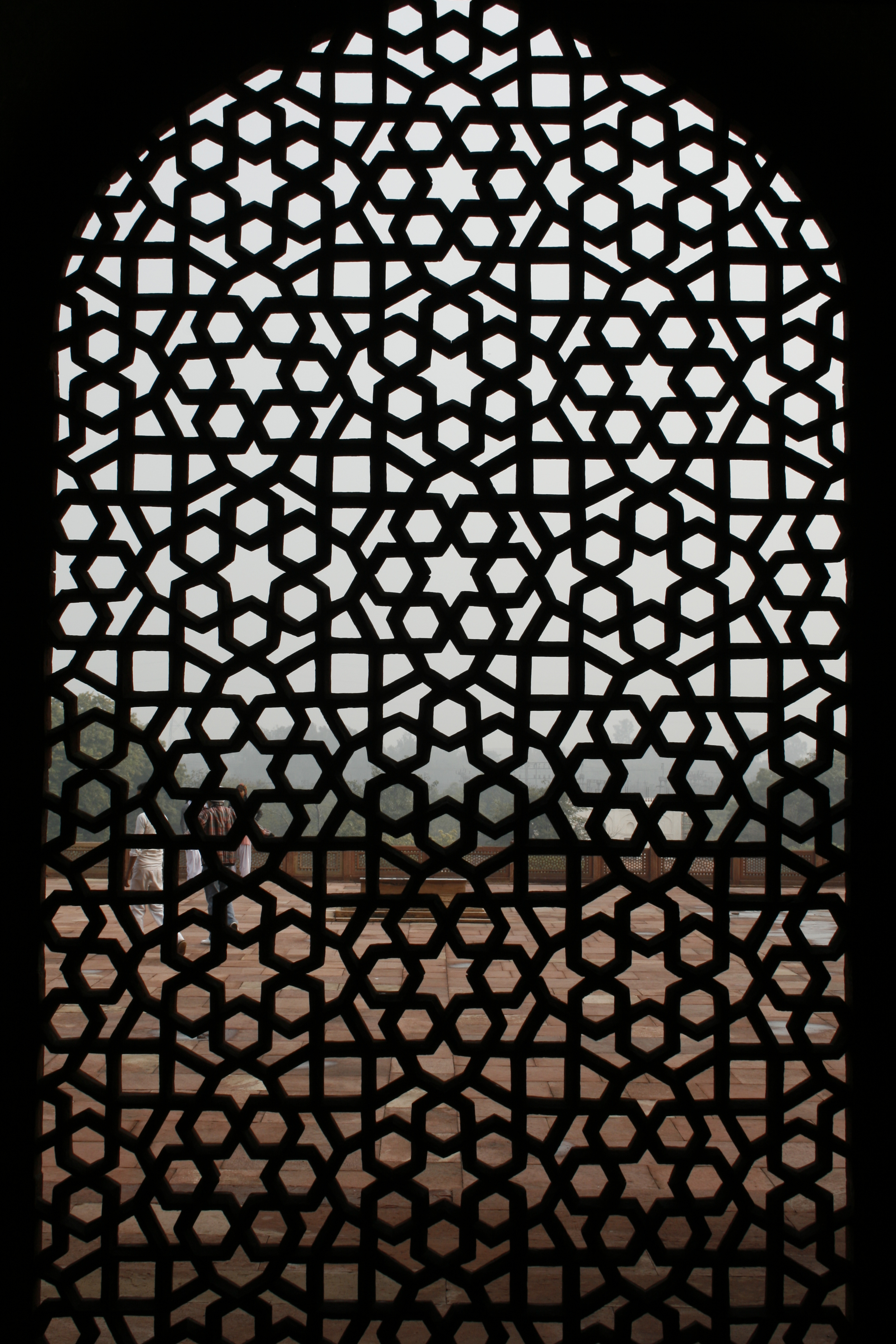 File a stone jaali in the humayuns for Interior jali designs