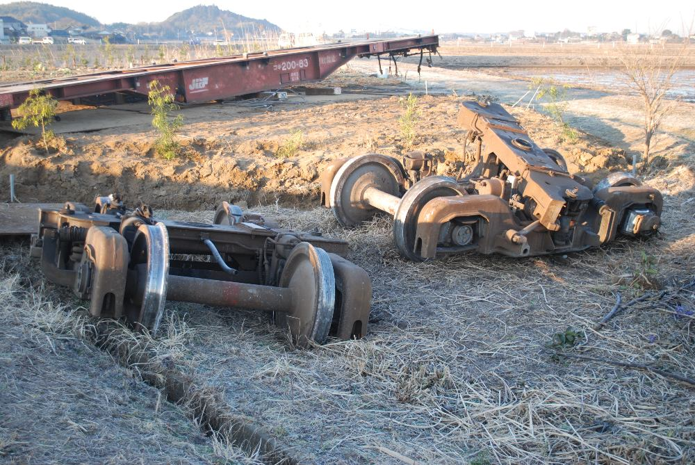 File:After the vehicle removal of the freight train derailment ...