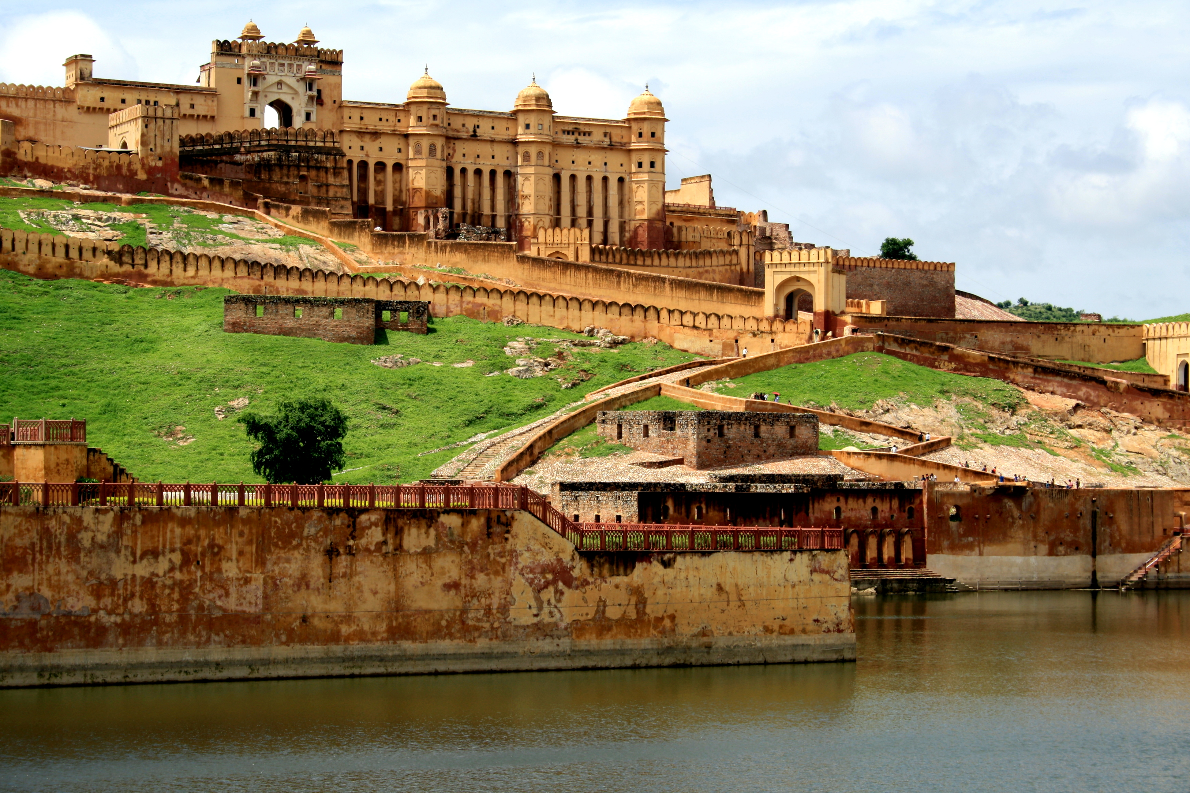 Jaipour castle i Rajasthan