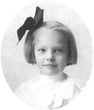 Childhood portrait of Amelia Earhart