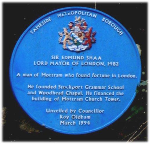 Photo of Edmund Shaa blue plaque