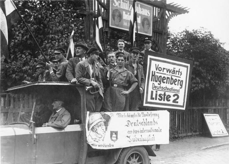 Antisemitische Wahlwerbung zur Reichstagswahl 1930