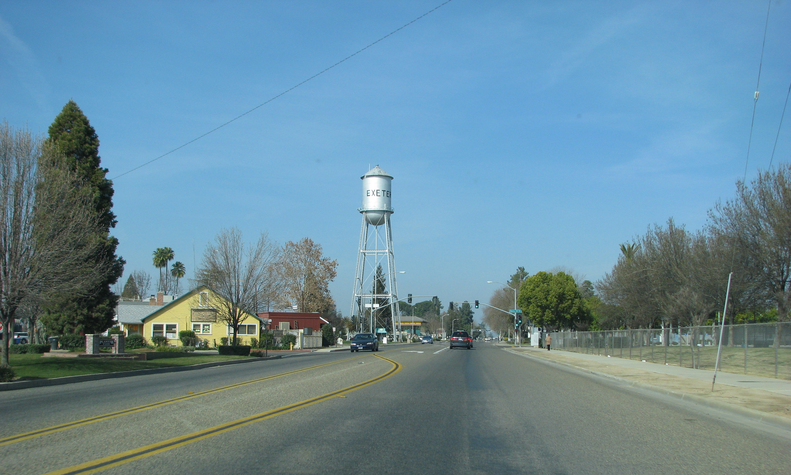 California State Route 65 near Exeter.