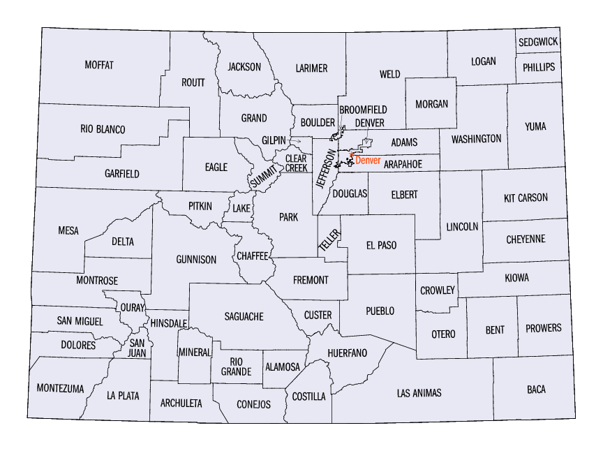 Colorado Statistical Areas Wikipedia - Colorado state map with cities