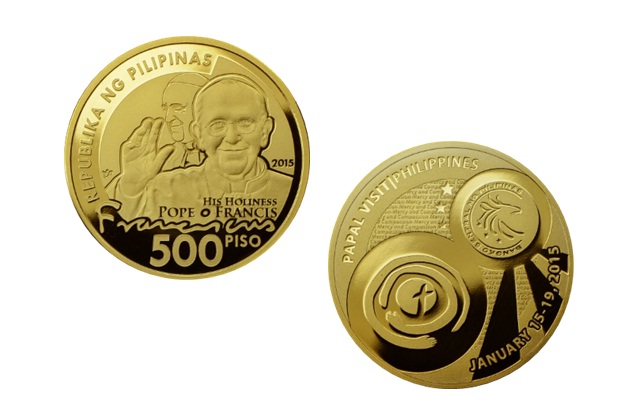 File Commemorative Pope Francis Php500 Peso Coin Jpg