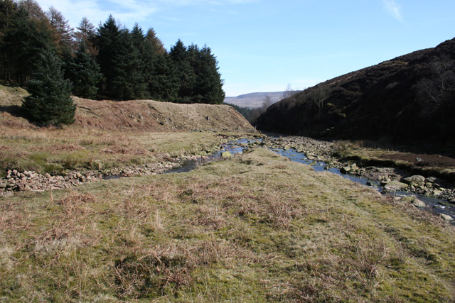 Confluence of Lady Clough and River Ashop - geograph.org.uk - 393378