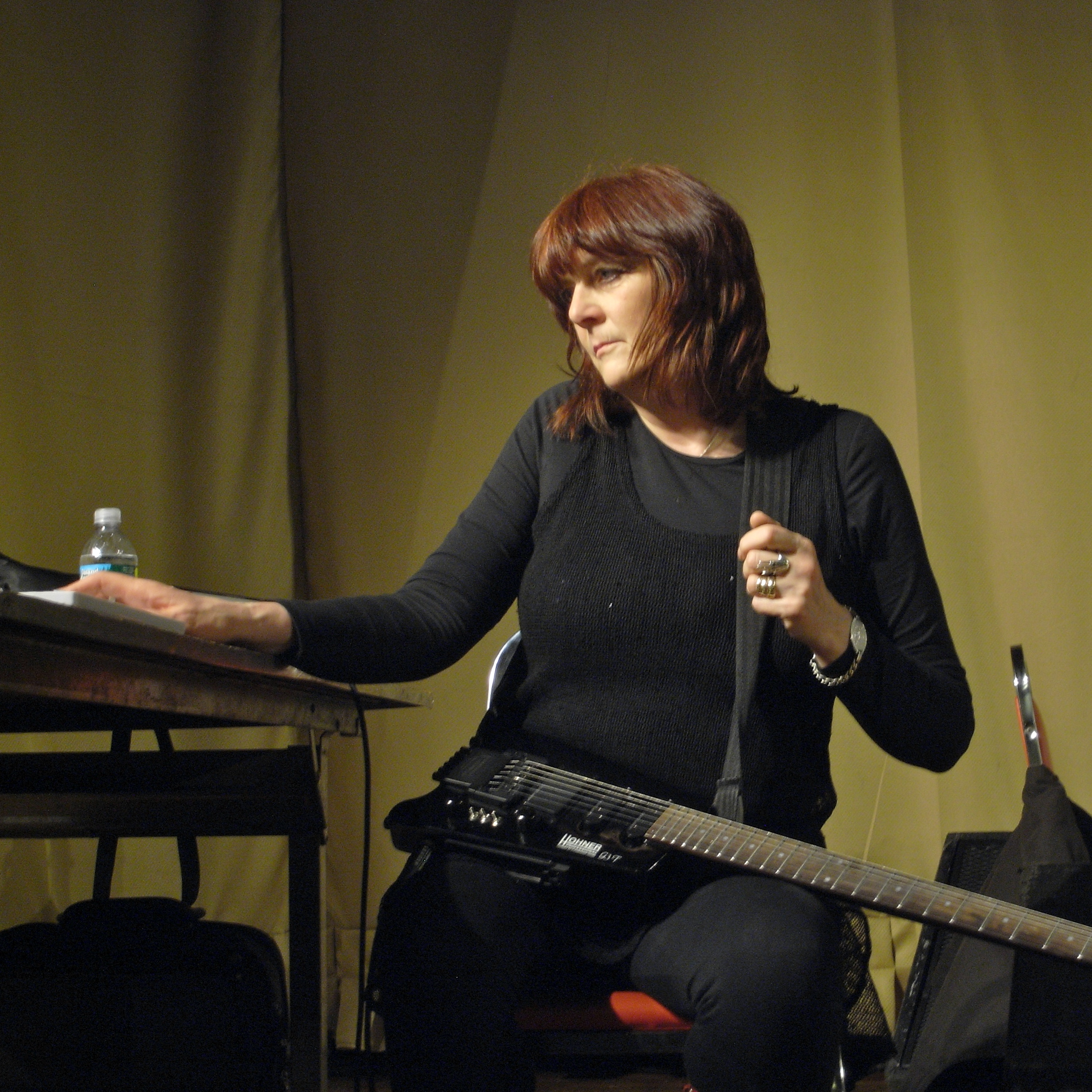 Cosey Fanni Tutti performing with [[Throbbing Gristle]] in [[Brooklyn]], New York in 2009