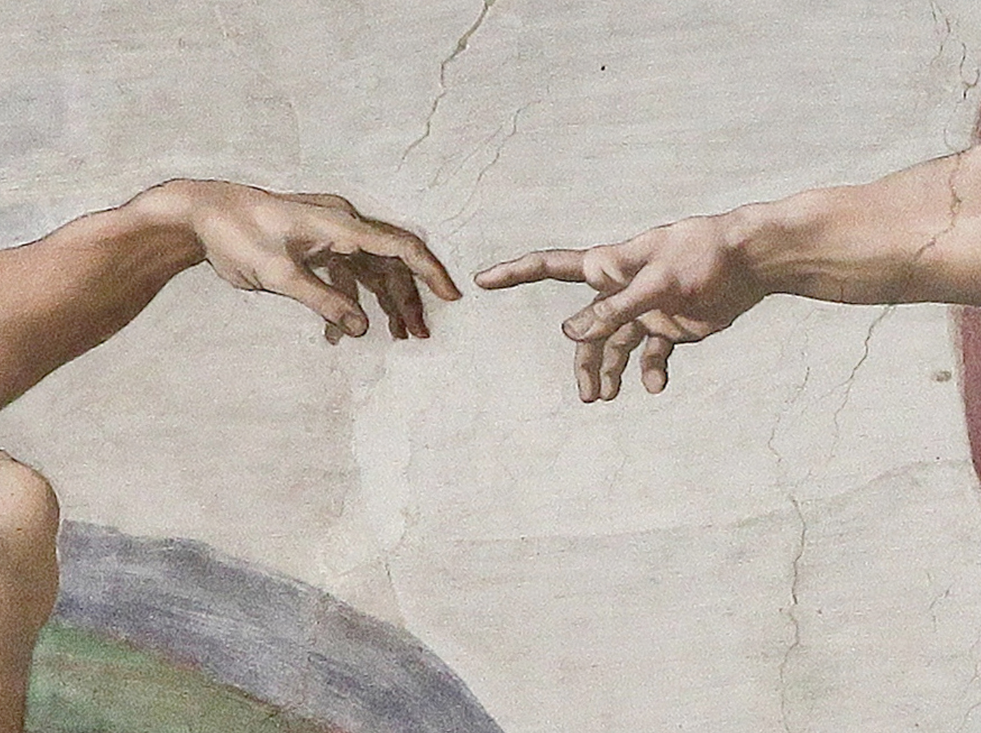 Creation of Adam (Michelangelo) Detail