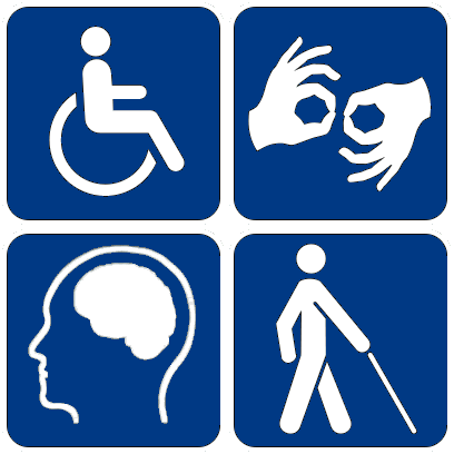 NPS icons related to disability.