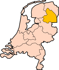 Map: Provincie Drenthe in Nederland
