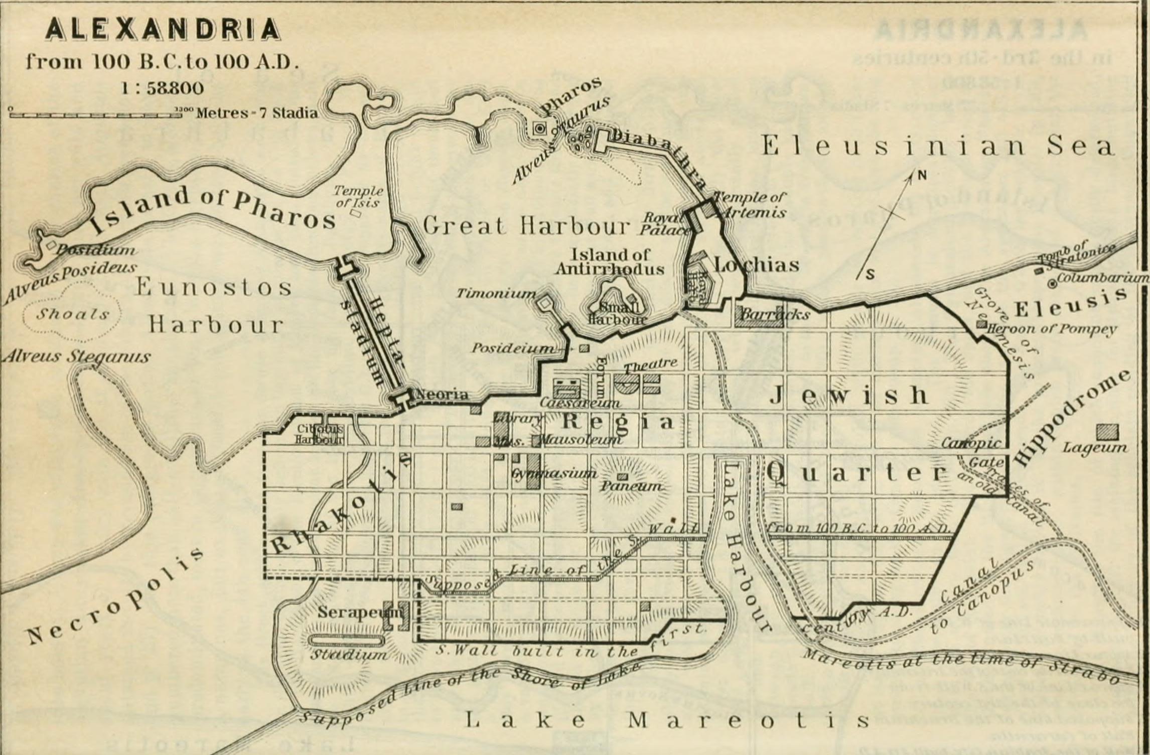 Plano de Alejandría (clic para ampliar)