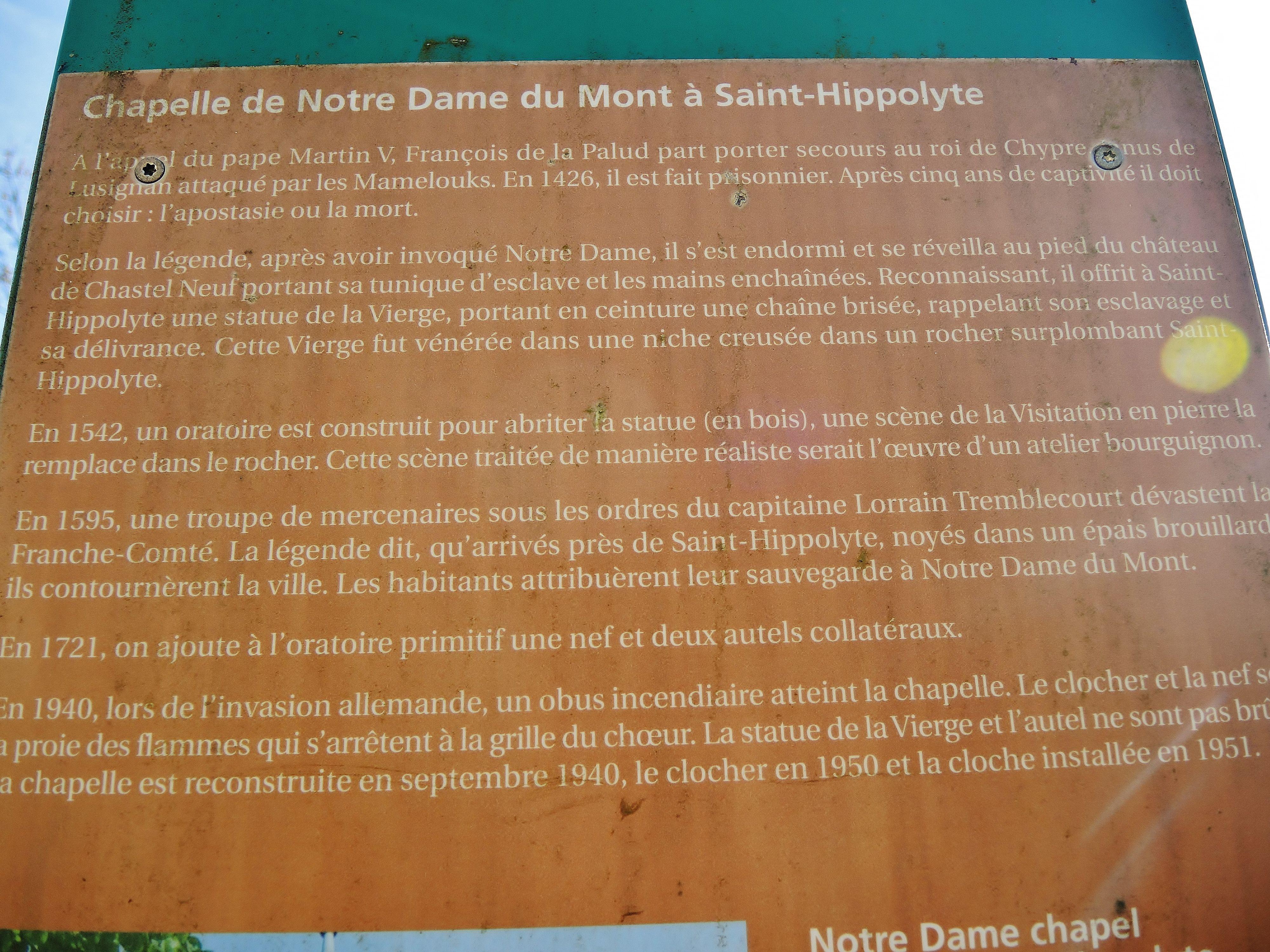 Fileexplications Sur La Chapelle Notre Dame Du Montjpg