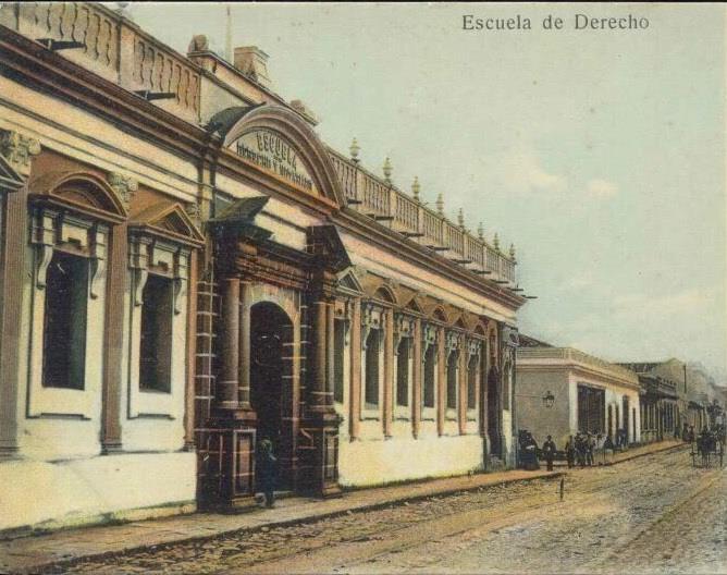 Edificio de la Facultad de Derecho de la Universidad de San Carlos de Guatemala.