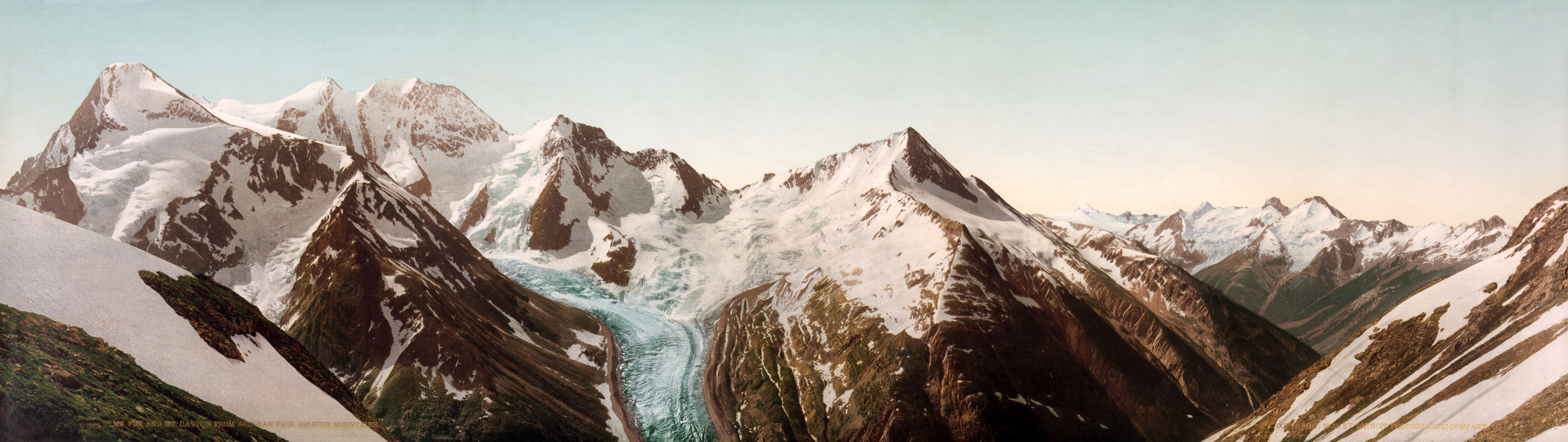 TEF: MOUNTAINS Flickr_-_%E2%80%A6trialsanderrors_-_Mt._Fox_and_Mt._Dawson_with_Dawson%27s_Glacier_from_Asulkan_Pass%2C_Selkirk_Mountains%2C_British_Columbia%2C_1902