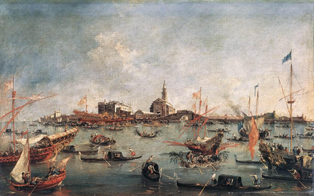 Le Doge de Venise sur le Bucentaure à San Nicolò di Lido, le jour de l'Ascension