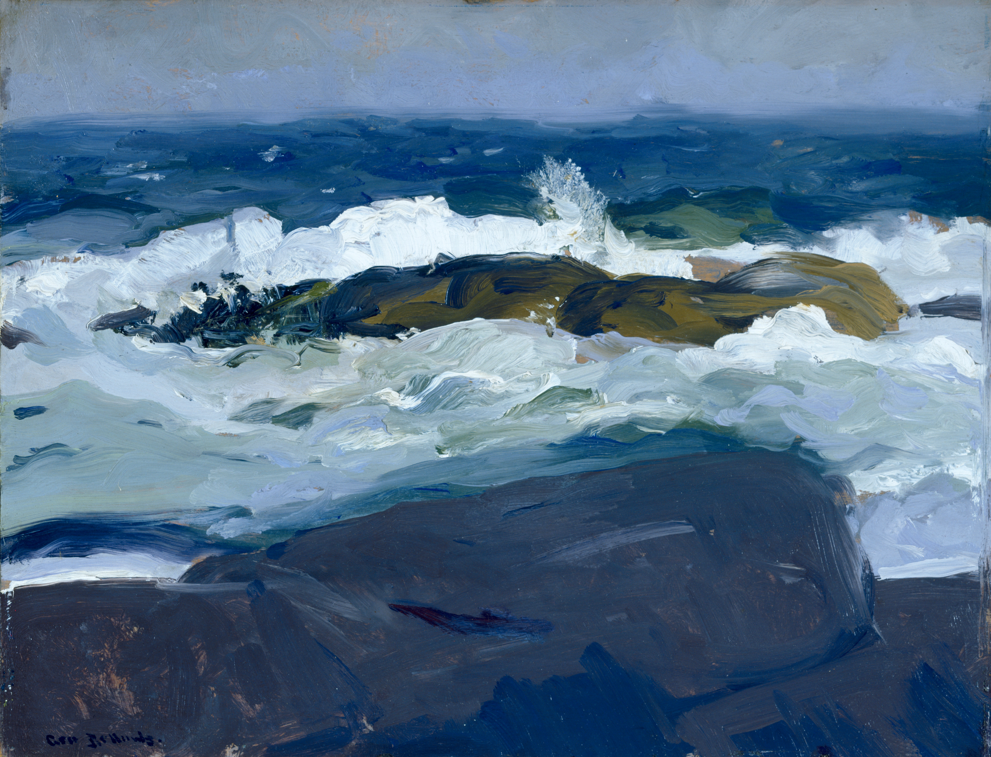 File George Bellows Rock Reef Maine Google Art