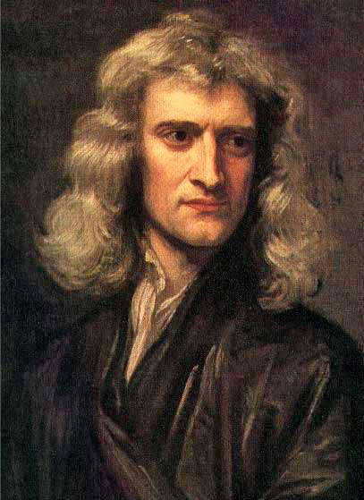 Isaac Newton, shown here in a 1689 portrait, made seminal contributions to classical mechanics, gravity, and optics. Newton shares credit with Gottfried Leibniz for the development of calculus. GodfreyKneller-IsaacNewton-1689.jpg
