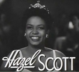 Cropped screenshot of Hazel Scott from the tra...