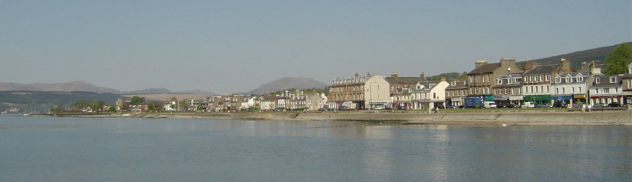 Helensburgh, looking west from the pier