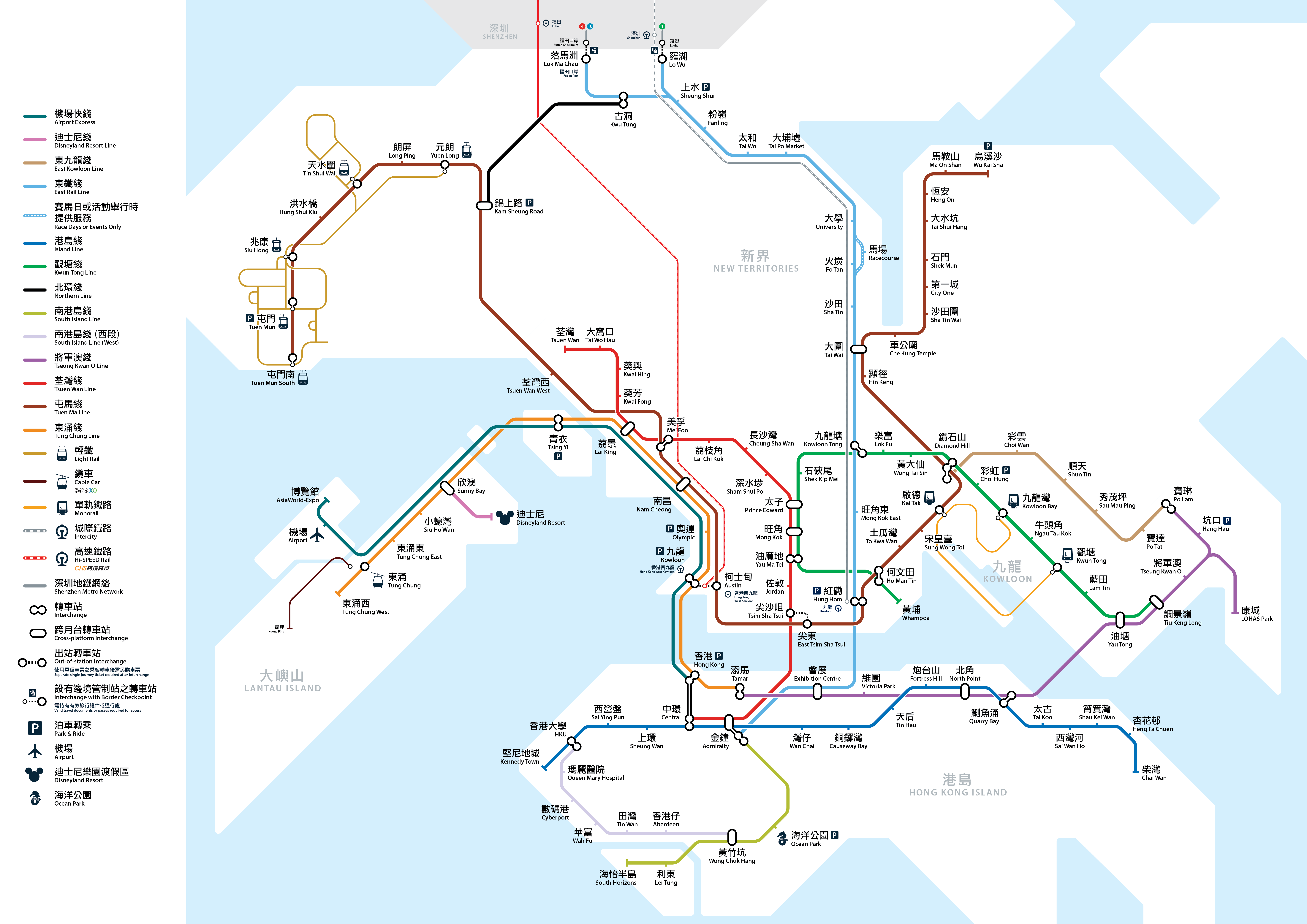 Map Of Hong Kong Subway.Future Projects Of The Mtr Wikipedia