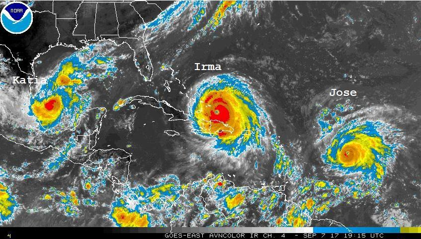 Atlantic Hurricanes, September 2017, including Irma