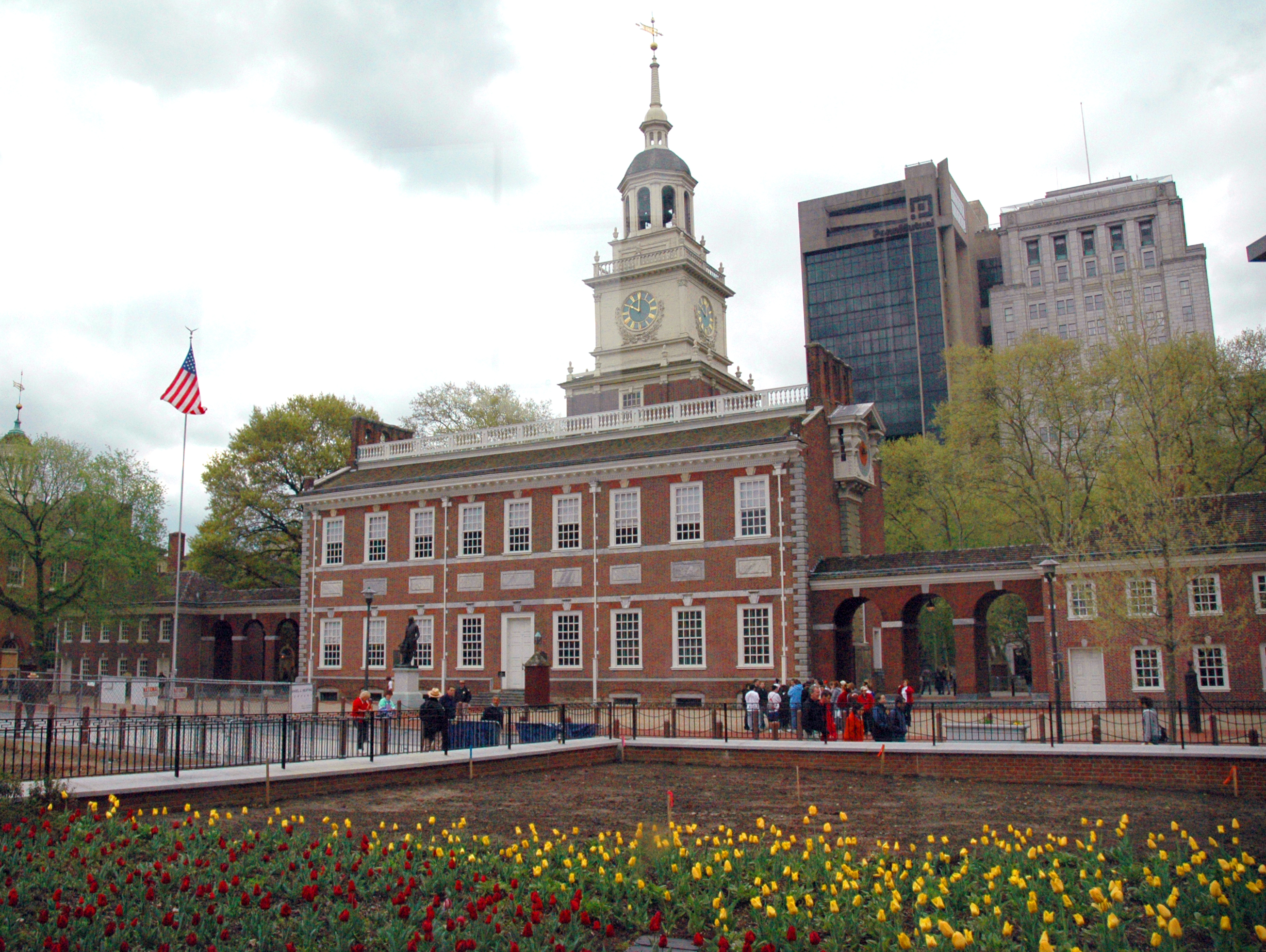 Independence Hall in Philadelphia in the Commonwealth of Pennsylvania
