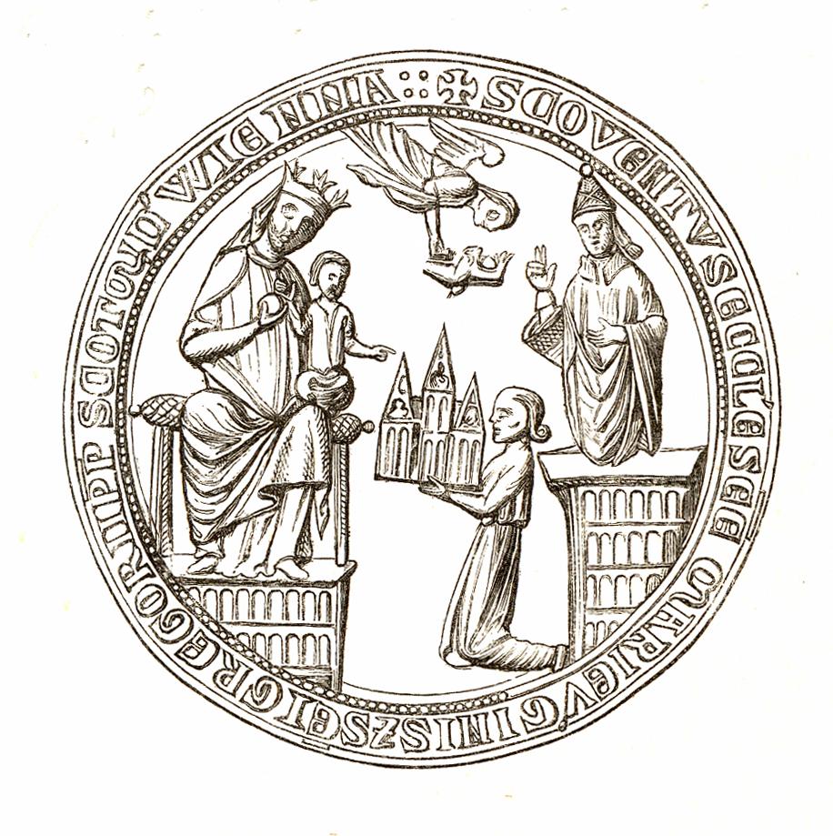 Jahrbuch MZK Band 03 - mittelalterliche Siegel Fig 24 Benediktinerstift Schottenkloster 1.jpg