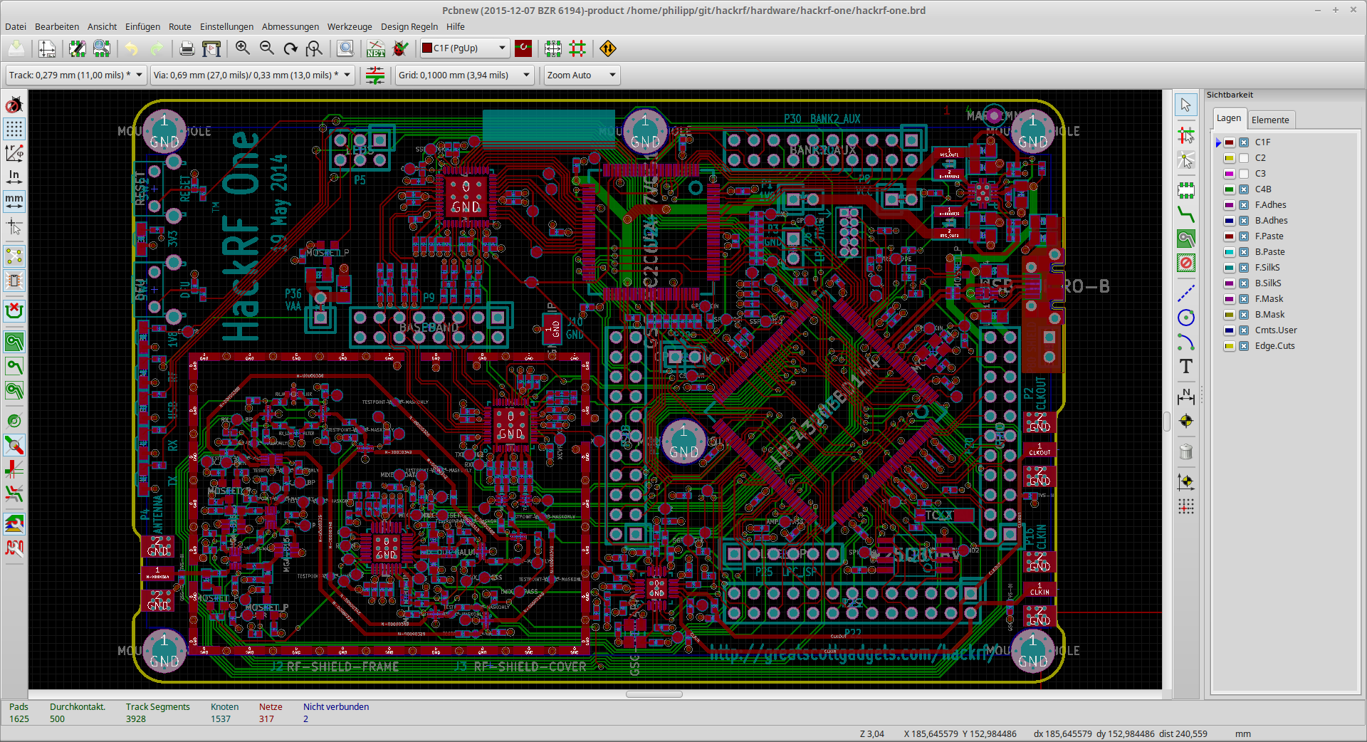File kicad pcbnew hackrf one wikimedia commons