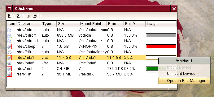 Knowing Knoppix (Accessing disks and partitions while outside of KDE 1).png
