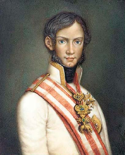 Portrait of Leopold II as a young man.