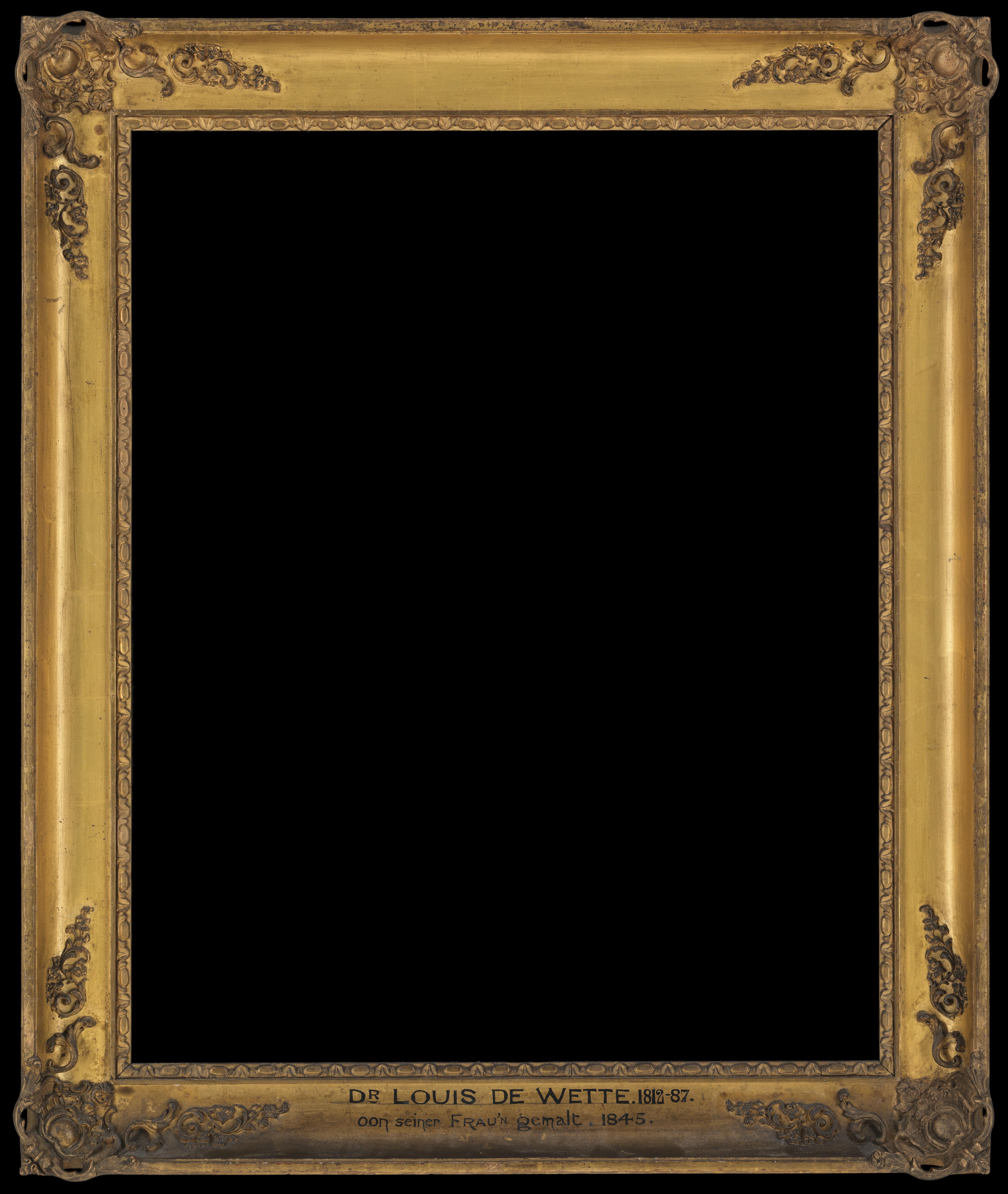 Black Frame Painting Label