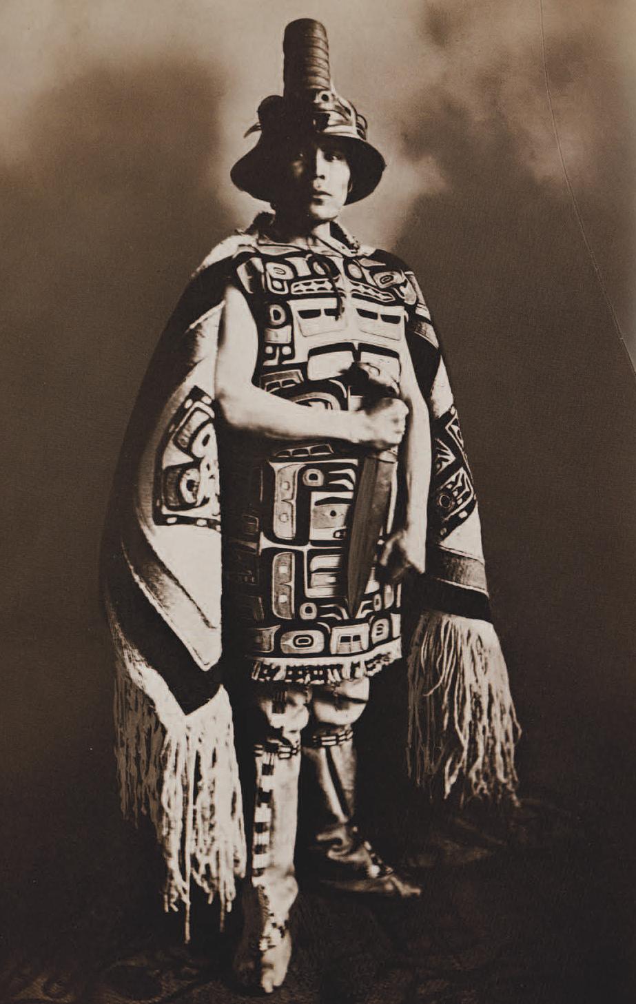 Shotridge in Tlingit ceremonial dress, c. 1912