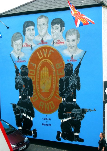 Ulster volunteer force military wiki fandom powered by for Telephone mural 1970