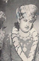 M. G. Ramachandran looking towards his left
