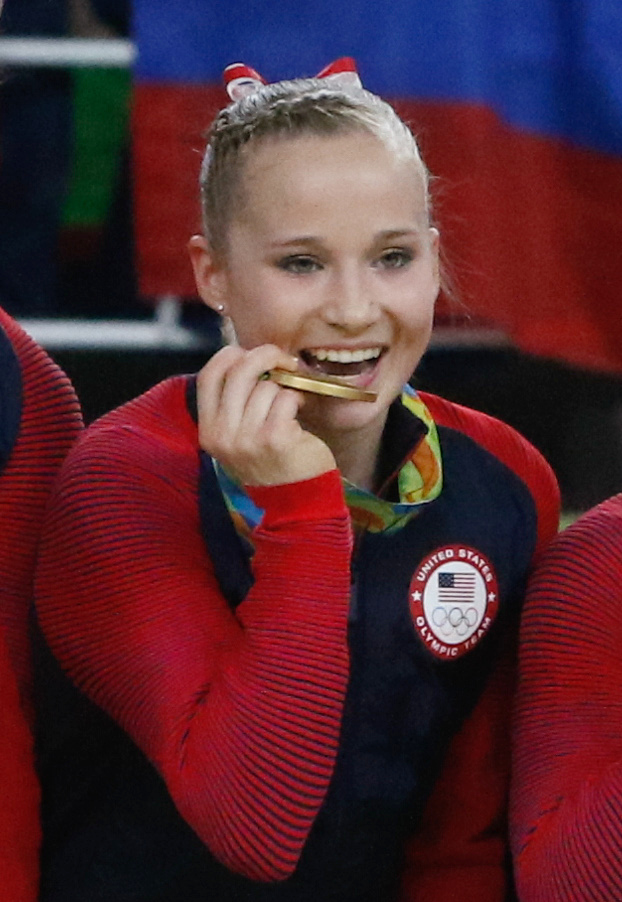 The 21-year old daughter of father Thomas and mother Cindy Madison Kocian in 2018 photo. Madison Kocian earned a  million dollar salary - leaving the net worth at 0.1 million in 2018
