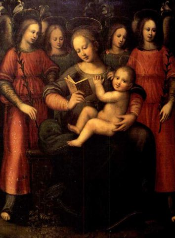 Madonna con Bambino e quattro angeli di Plautilla Nelli