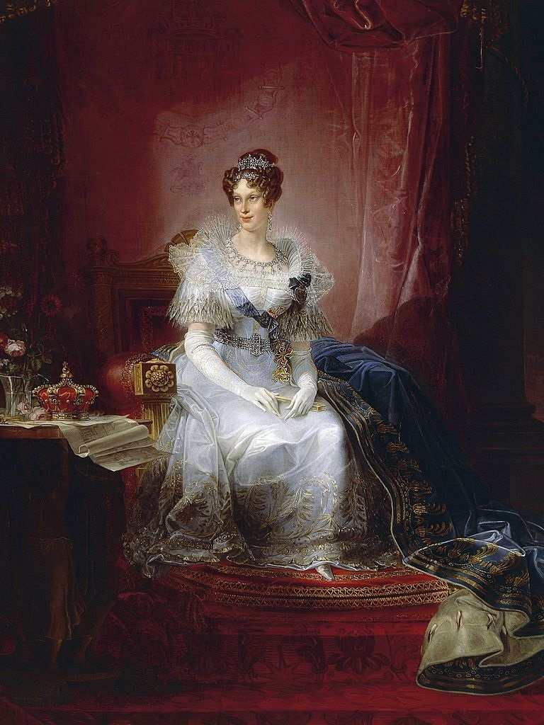 Portrait of Marie-Louise, Duchess of Parma and Piacenza  ву  Giovan Battista Borghesi (1790-1846)