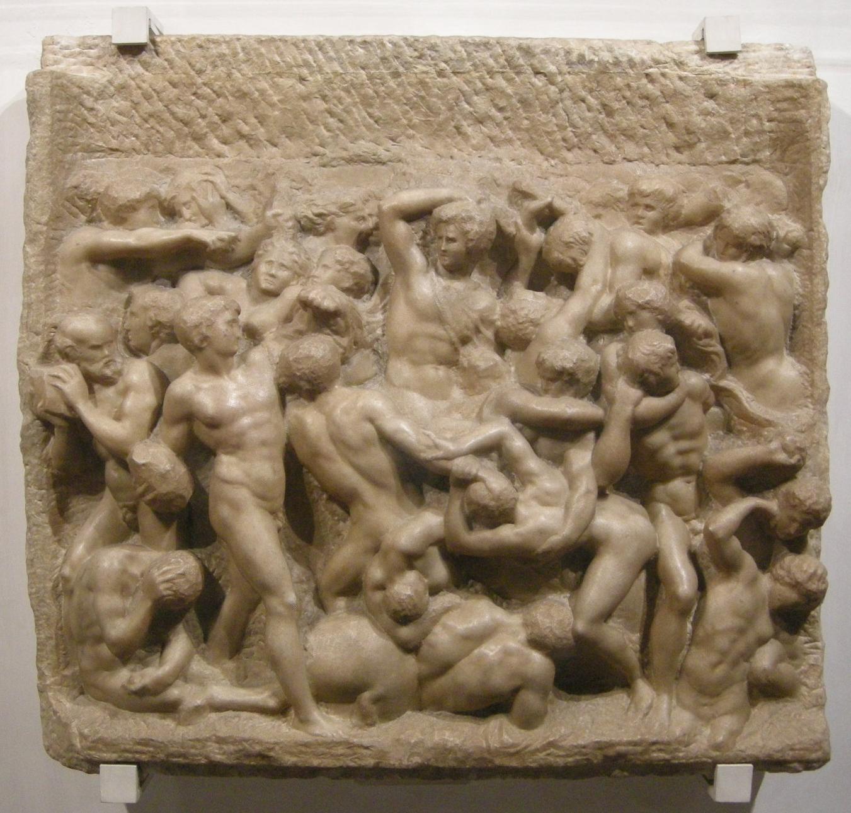 Michelangelo, centauromachia, 1492 ca. 01.JPG