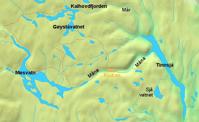 Kalhovd locator map