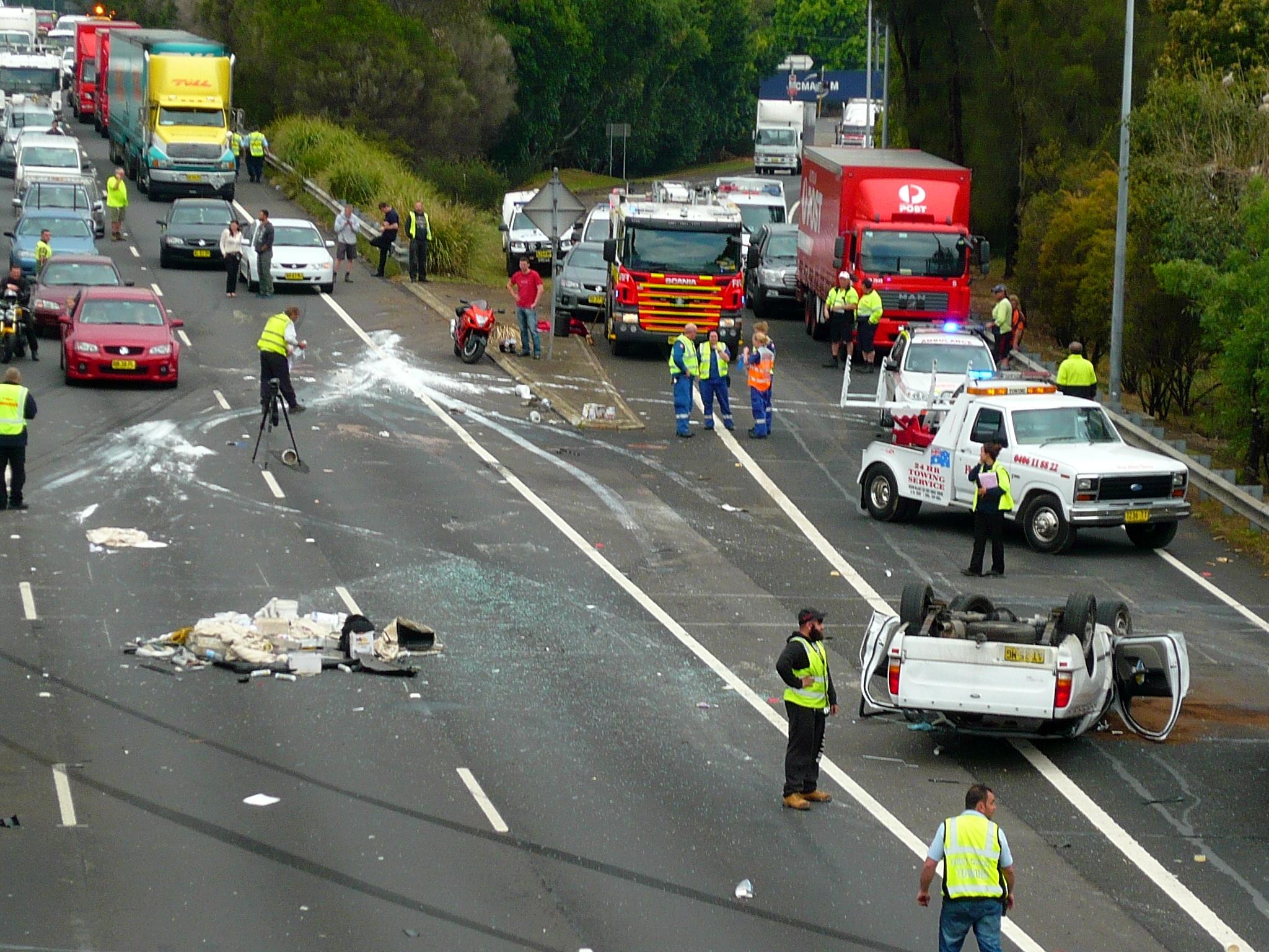 M5 Accident Today Sydney