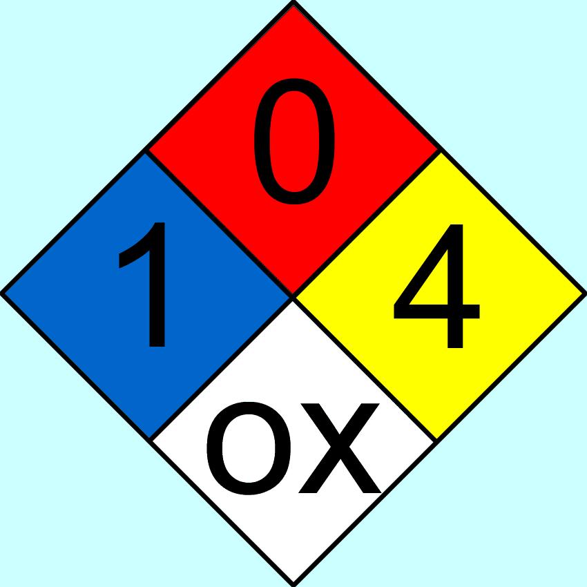 Hazard Diamond: File:NFPA704-104ox.png