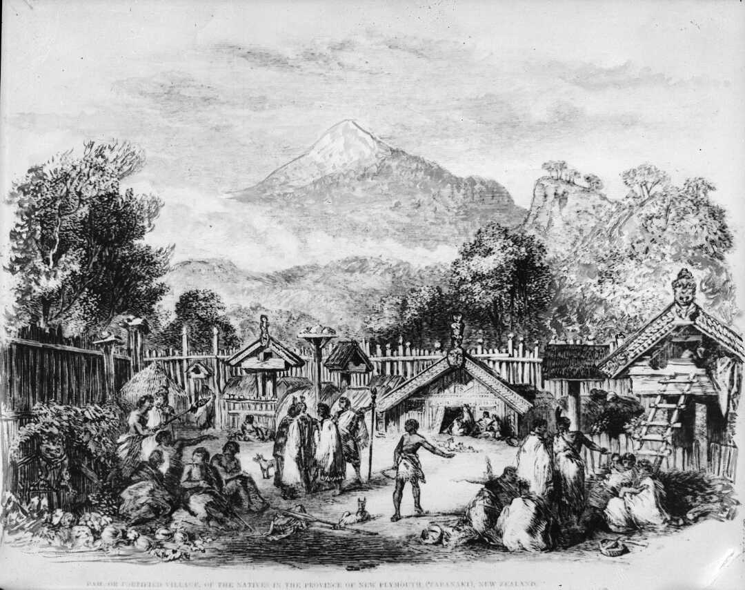 File:Pah or fortified village of the natives in the province of New  Plymouth (Taranaki) New Zealand.jpg - Wikimedia Commons