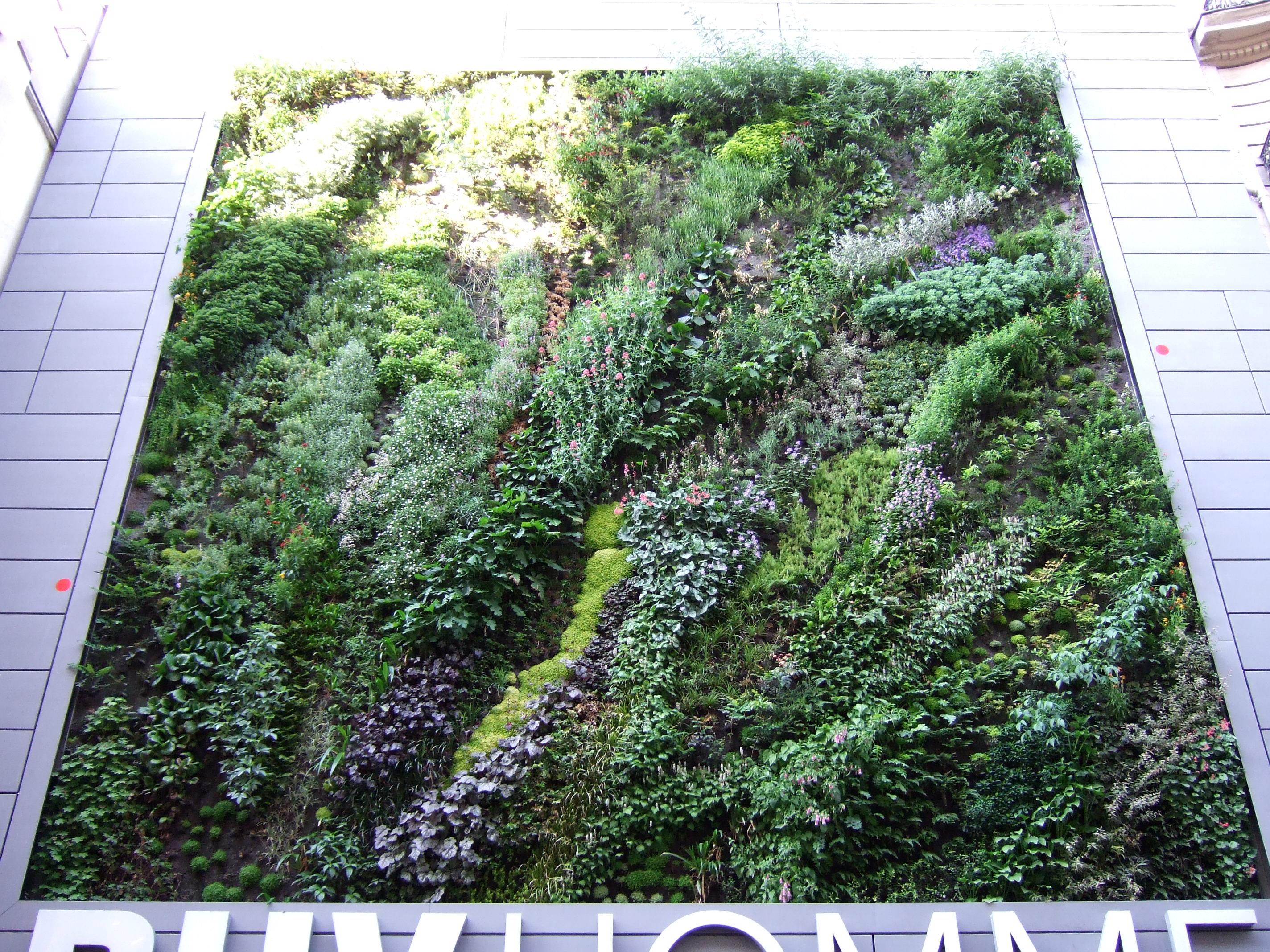 Pin vertical jardins empresariais residenciais vasos for Jardines verticales wikipedia