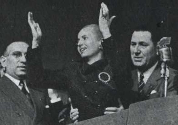 Peron y Eva - Acto en Plaza de Mayo -1MAY1952
