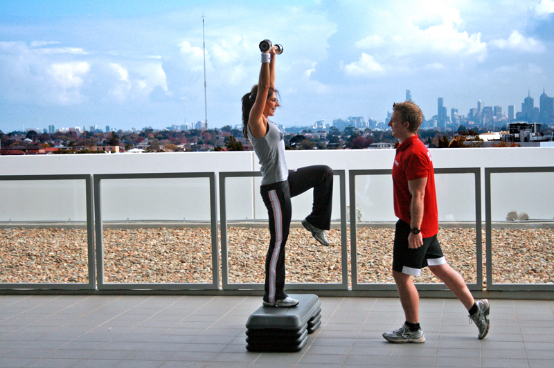 Personal Training Overlooking Melbourne