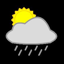 English: sun, cloud and rain, weather forecast...