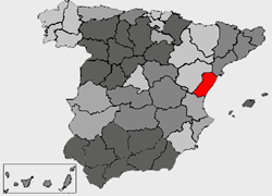 Location of Castellon electoral district in Spain.