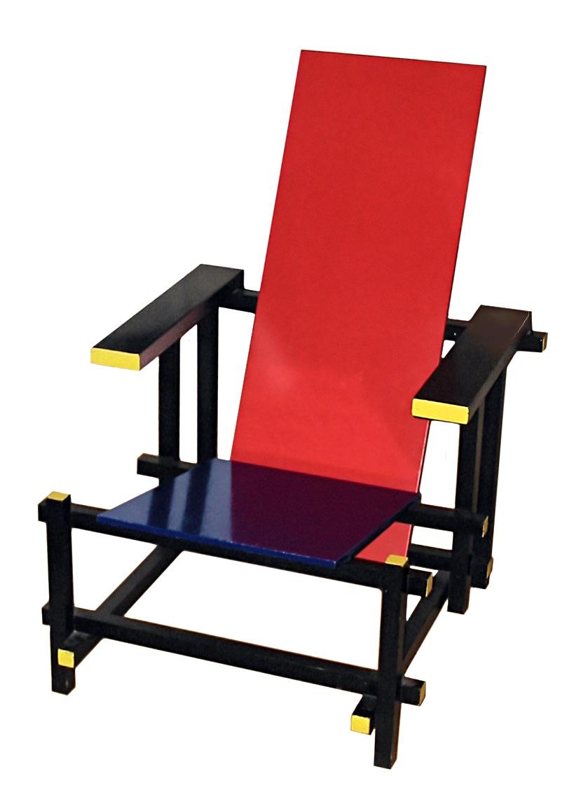 - Rot blauer stuhl ...