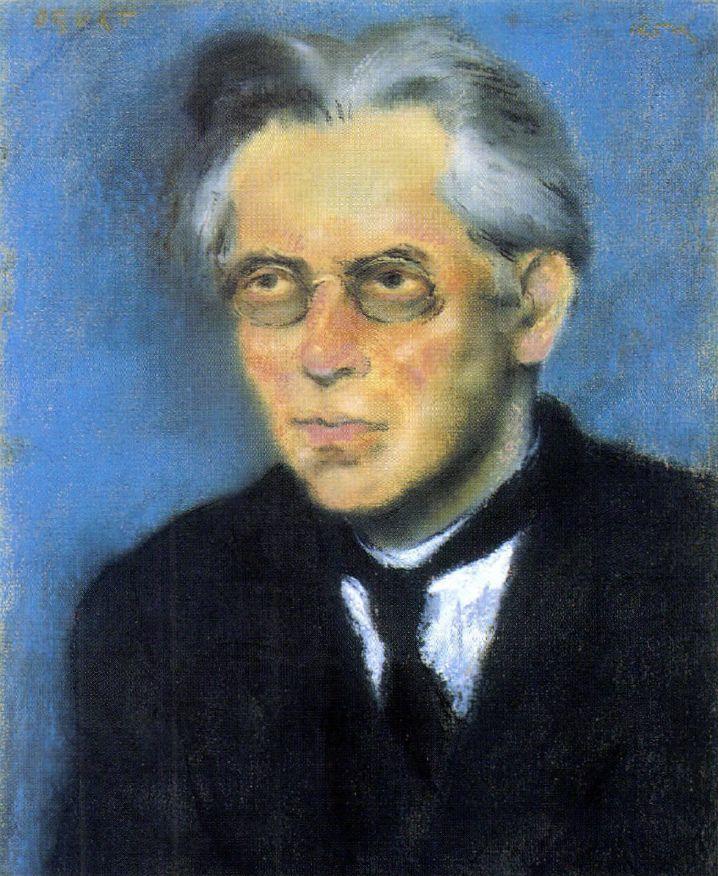 Rippl-Rónai József portréja Osvát Ernőről