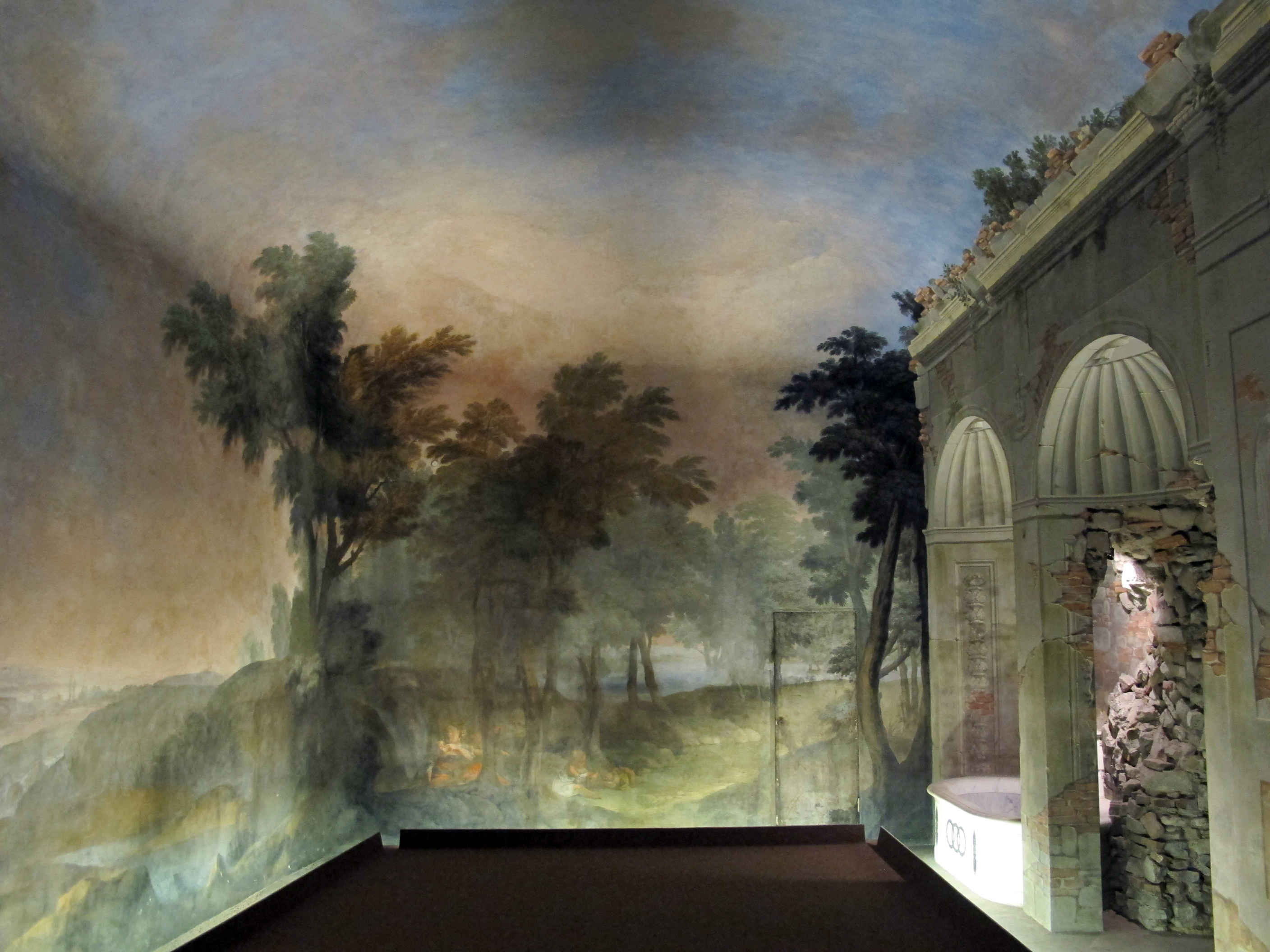 Murals and other decorative paintings on pinterest grisaille murals and wall murals - Sala da bagno ...